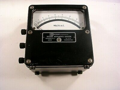 Vintage Daystrom Ac Voltmeter Desk Top Model 433