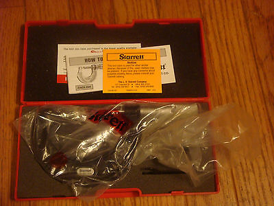Starrett436.1mrl 125mm Outside Micrometer Plain Thimble 2-3 Range 0.001