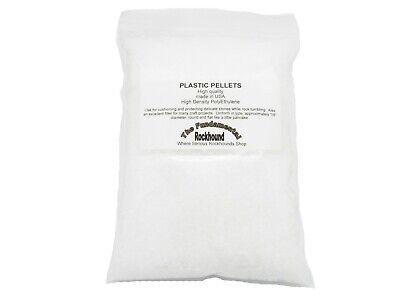 2 LB PLASTIC PELLETS White Tumbling ROCK Tumbler Lapidary Polishing Supply (Rock Tumbling Supplies)