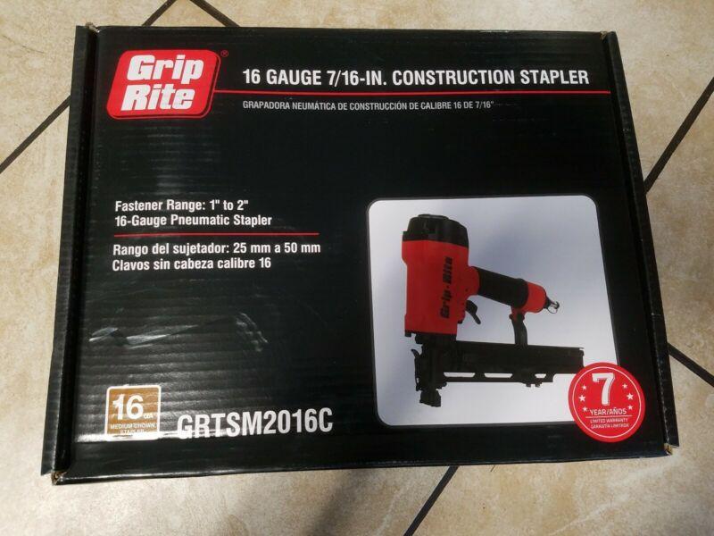 Grip Rite Grtsm2016c 16 gauge 7/16 in stapler