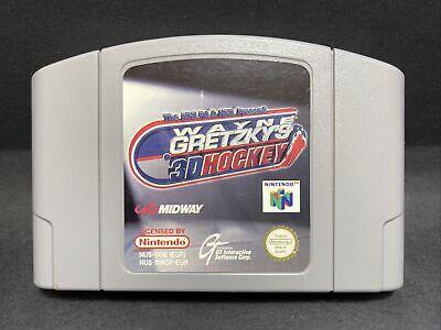 N64 Nintendo 64 Game - Wayne Gretzky's 3D Hockey - PAL