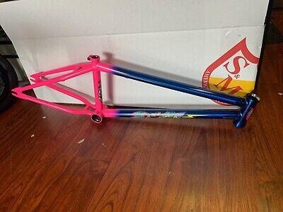 "PAIR OF ECLAT BMX PREDATOR TIRES BLUE SAND 20x2.40/"" PRIMO ODYSSEY SUNDAY"