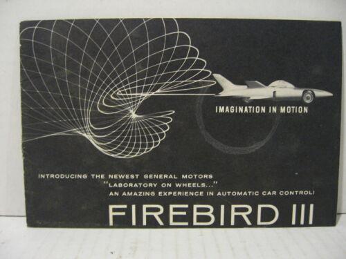 1959 GM Firebird III Concept Car Dealer Brochure