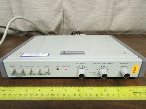 Radiometer Copenhagen TTT-60 Titrator Powers Up, Loose Name Plate