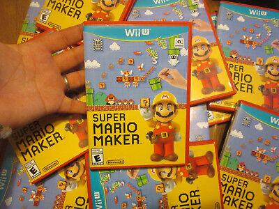 Super Mario Maker Nintendo Wii U COMPLETE GAME + CASE + MANUAL LIKE NEW