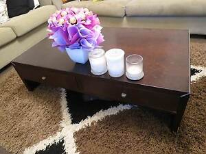 Wooden coffee table with storage drawers Coogee Eastern Suburbs Preview
