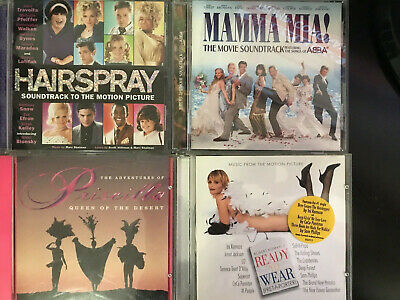Gay musicals of the 90s CDs Hairspray, Priscilla, Mamma Mia Pret-a-Porter