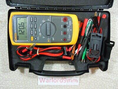 Fluke 87v Trms Multimeter Kit With Leads Free Hard Case - 15744.