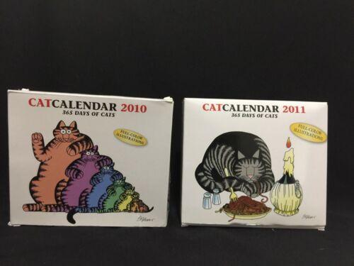 Kliban  2010 2011 Calendar Desk Lot GREAT pics!!!