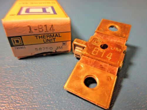 Square D, B14 Overload Relay Thermal Unit, Schneider Electric 58750