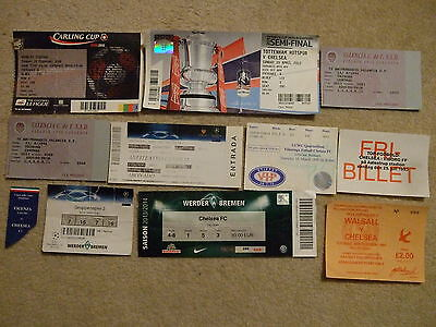 ticket chelsea away v vicenza 97/8 uefa cwc final stub only
