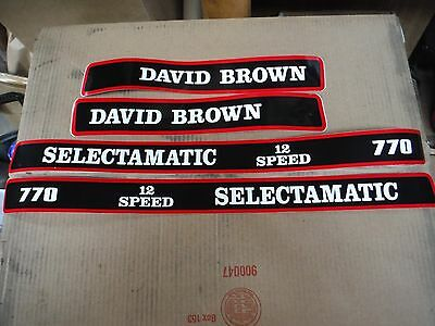 David Brown 770 Selectamatic Hood Decals.  12-speed. See Details Pictures