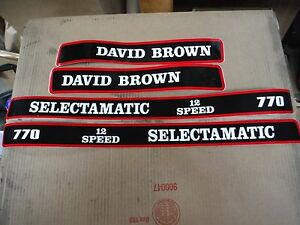 DAVID-BROWN-770-SELECTAMATIC-HOOD-DECALS-12-SPEED-SEE-DETAILS-amp-PICTURES