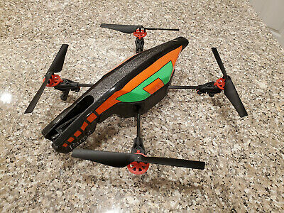 Parrot AR Drone 2.0 (Mostly Working) w/Extra Parts, Accessories, Mount for GoPro