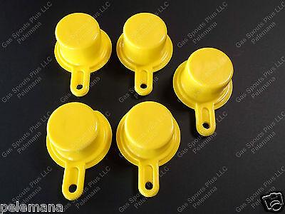 5-pk Blitz Yellow Spout Caps Mr Yellow Cap Blow Out Sale 900092 900094 900302