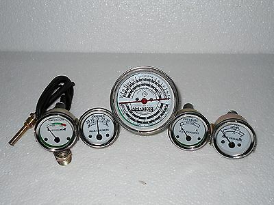Allis Chalmers Oil Pressure Fuel Temp Amp Tach Gauge Set For Gas D14 D15 D17