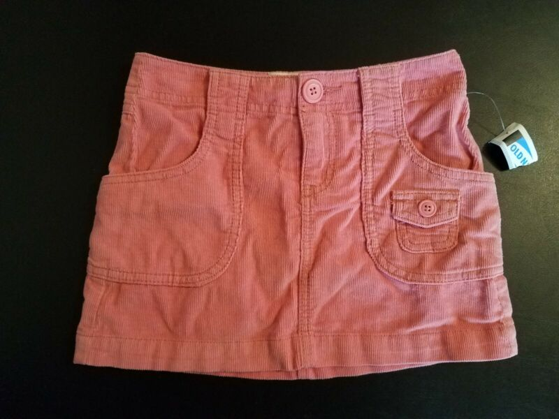 New Old Navy Toddler Girls Mini Skirt Pink Corduroy w/pockets size S (6-7)