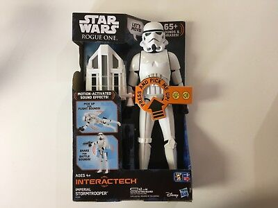 New Star Wars  Rogue One Interactech Imperial Stormtrooper 12  Action Figure