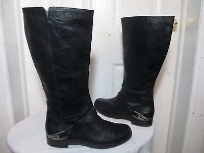 Used, UGG AUSTRALIA CHANNING II 1001637 BLACK LEATHER KNEE HIGH RIDING BOOTS US 12 for sale  Bronx