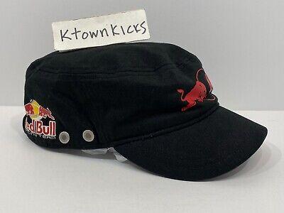 Puma Red Bull Racing Short Bill Black Military Style Hat Adjustable