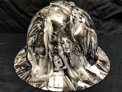 New Full Brim Hard Hat Custom Hydro Dipped Vampire Babes. Free Shipping