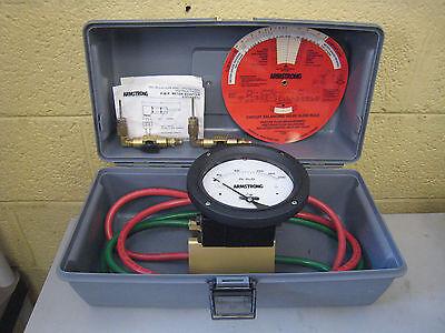 Armstrong Model Cbdm-200 Differential Pressure Meter W Pmp Meter Adapters Used