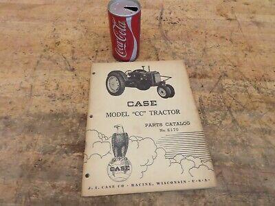 Antique Vintage Case Model Cc Tractor Manual Parts List Catalog No E170