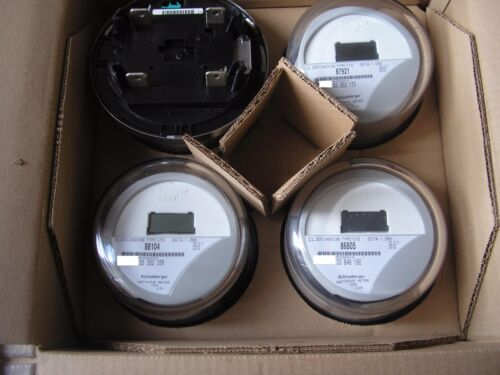 ITRON, WATTHOUR METER (KWH) C1S/C1SR, CENTRON, 240V, 200A, , FORM 2S, LOT OF 4