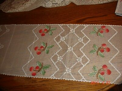 """Heritage Lace 14""""x 54"""" Cherries Table Runner Color Ecru FREE SHIPPING!"""