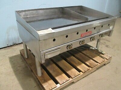 Vulcan 948a Hd Commercial Free Standing Natural Gas 48 Griddleflat Top Grill