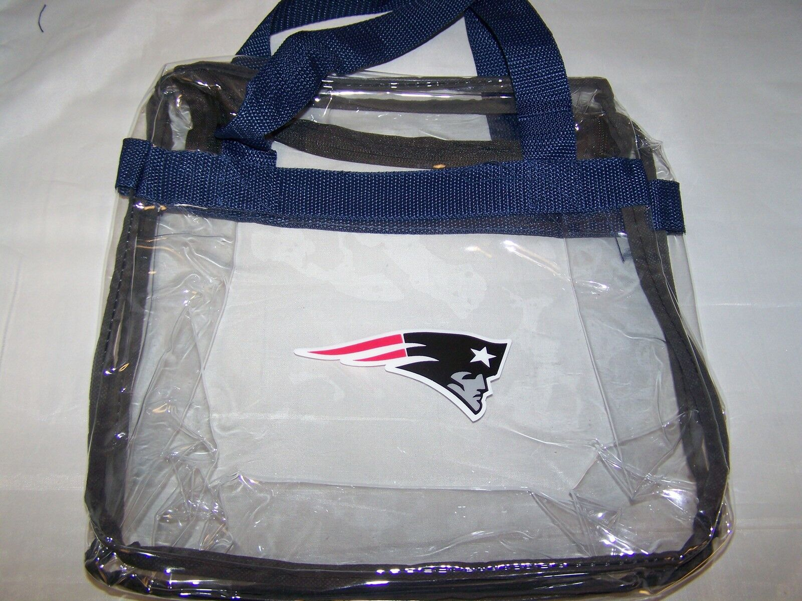 New England Patriots NFL Logo Clear Stadium Approved Tote Messenger Bag 12x6x12quot;  eBay