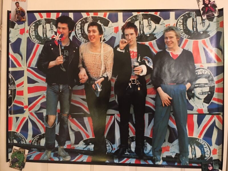 Sex Pistols UK Poster Punk Anarchy Johnny Rotten Sid Vicious