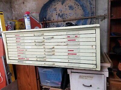 Vintage Flat File Cabinet Blueprint Mapor Art Cabinet 450