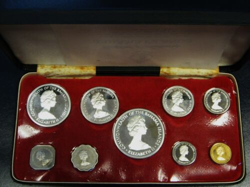 1971 Bahamas Silver Proof Set Franklin Mint Issue Original Box With Paperwork