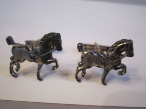 VINTAGE STERLING SILVER HORSE CUFF LINKS - SC-10