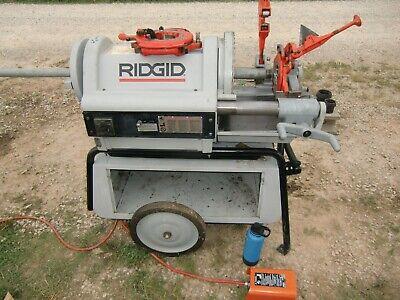 Ridgid 1224 Threader 26092 Threads 18 - 4 Wwheeled Stand Tool Box Gr8 Cond