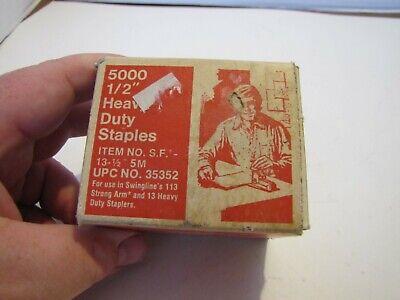Vtg 1 Box Swingline 5000 12 Heavy Duty Staples In Box Used