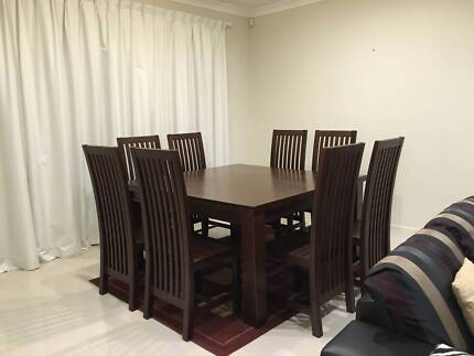 Large 9 Piece Dining Table For Sale