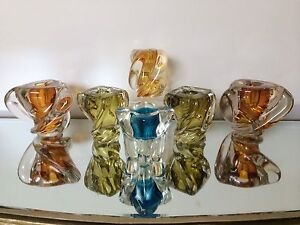 Chalet glass candle holders from $80