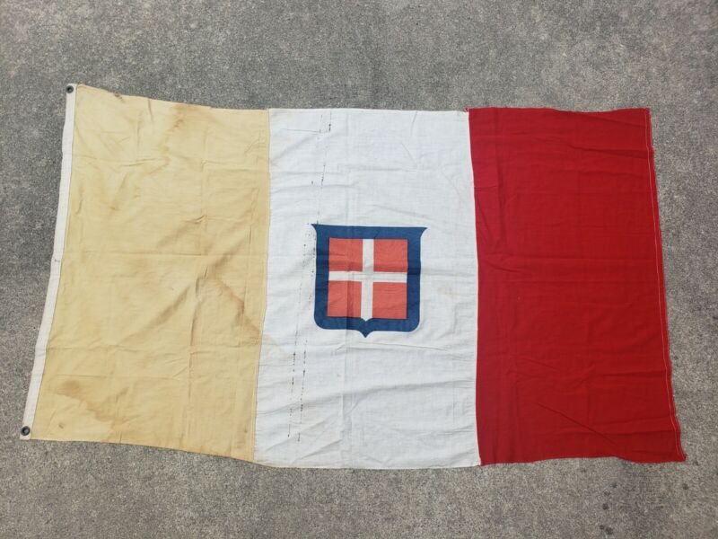 Antique Kingdom Of Italy Flag WWII? Large 3