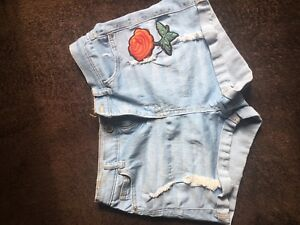 High waisted rose blue shorts
