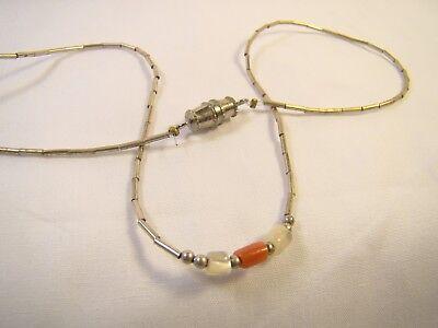 "Liquid Silver Ankle Bracelet (Pretty Sterling Silver Liquid Silver Bead Red White Accent 14"" Ankle Bracelet )"