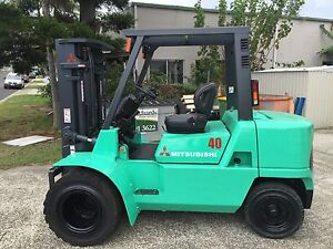 2009 Mitsubishi 4Ton Diesel Duel Wheeled Container entry Forklift Moffat Beach Caloundra Area Preview