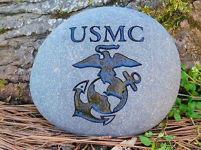 United States Marine Corps Eagle Globe and Anchor river stone