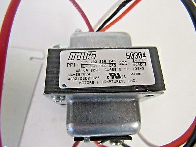 Mars 50304 Control Transformer 120208240vac To 24vac 60 Hz W Foot Plate Nos