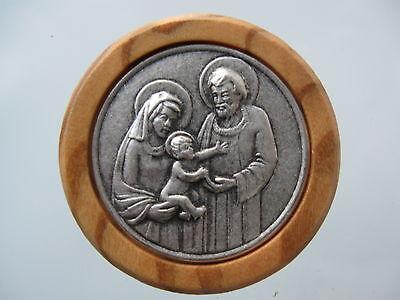 Car Badge Holy Familie-Plakette Magnet-Kleberücken No. 9100/1 Wood Look