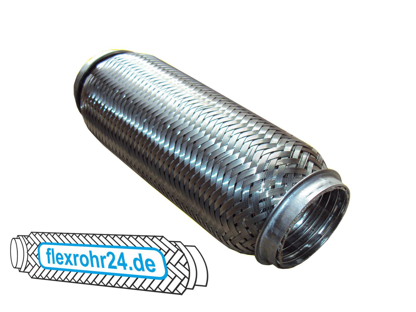 60x100 mm Flexrohr Flexibles Auspuff Hosenrohr Flexstück Edelstal