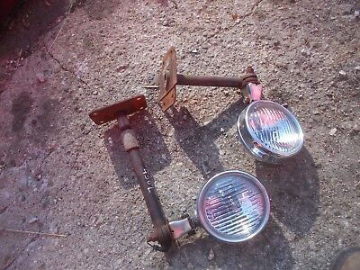Farmall 300 350 400 450 Tractor Front Ih Light Mounting Mount Brackets Lights