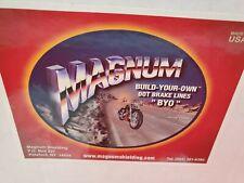 Magnum Byo Brake Line Brake Tee Chrome for Harley FLH FLT 84-07