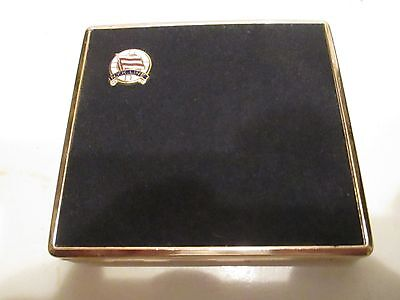 NKY CRUSE LINES VINTAGE GOLD TONE CIGARETTE CASE NEAR MINT ALL METAL